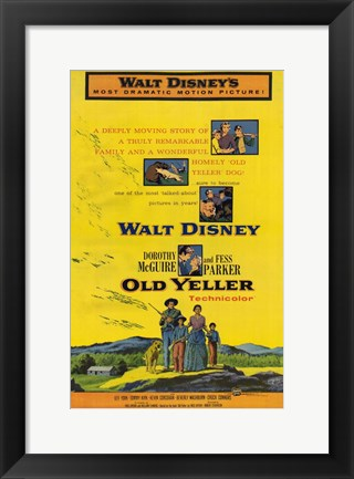 Framed Old Yeller - Scenes Print