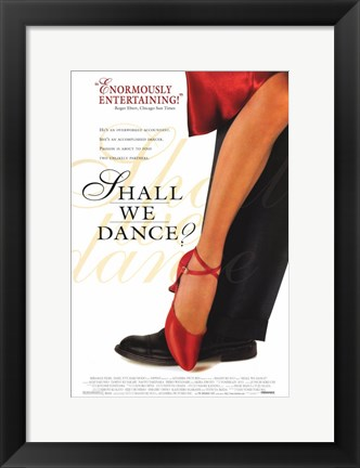 Framed Shall We Dance Red Shoes Print