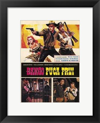 Framed Django Shoots First Print