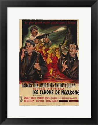 Framed Guns of Navarone in French Print