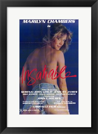 Framed Insatiable, c.1980 Print