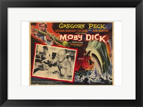 Framed Moby Dick - Gregory Peck Print