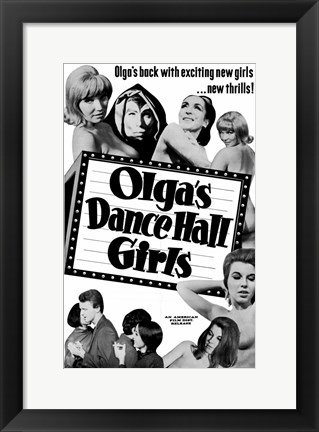 Framed Olga's Dance Hall Girls Print