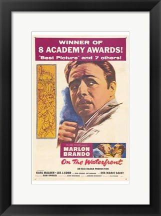 Framed on the Waterfront 8 Academy Awards Print