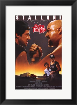 Framed Over the Top - Stallone Print