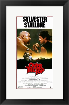 Framed Over the Top - Sylvester Stallone Print
