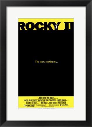 Framed Rocky 2 The Story Continues... Print