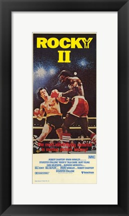 Framed Rocky 2 fighting Print