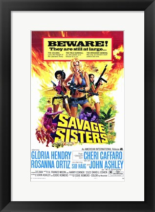 Framed Savage Sisters Print