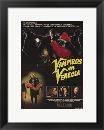 Framed Vampire in Venice Print