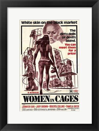Framed Women in Cages, c.1971 Print