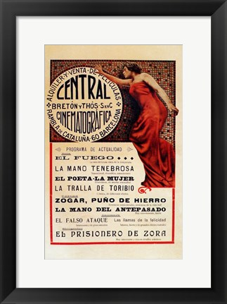 Framed Central Cinematografico Print