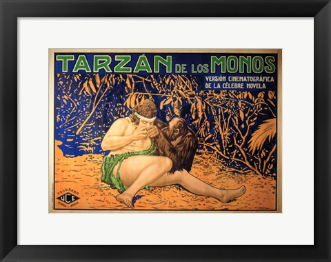 Framed Tarzan of the Apes, c.1917 (Spanish) - style A Print