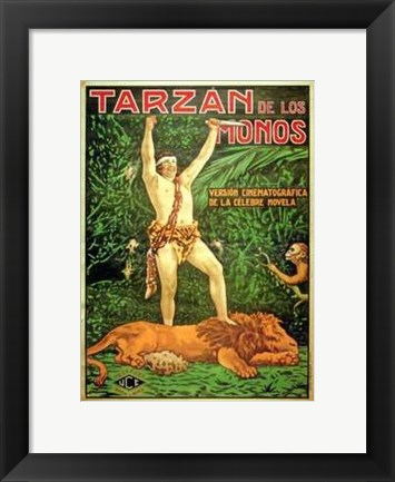 Framed Tarzan of the Apes, c.1917 (Spanish) - style B Print