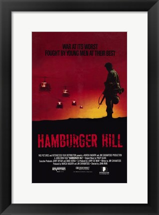 Framed Hamburger Hill Movie Print