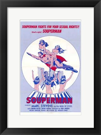 Framed Souperman Print