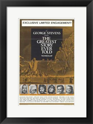 Framed Greatest Story Ever Told (gold) Print