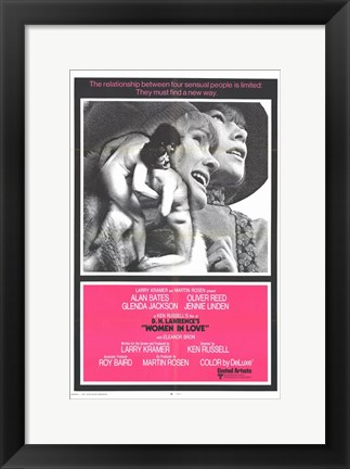 Framed Women in Love - pink Print