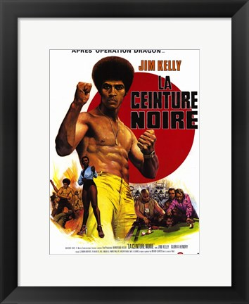 Framed Black Belt Jones French Print