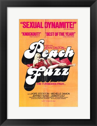 Framed Peach Fuzz Print