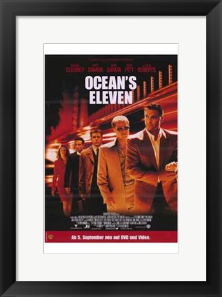 Framed Ocean's Eleven - five people Print
