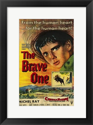 Framed Brave One Michael Ray Print