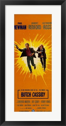 Framed Butch Cassidy and the Sundance Kid Sunburst Print