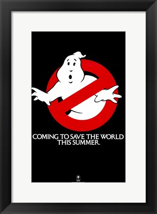 Framed Ghostbusters Coming to Save the World Print