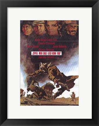 Framed Once Upon a Time in the West German Print