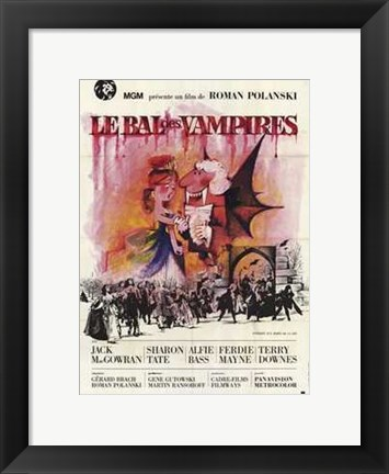 Framed Fearless Vampire Killers With Jack MacGowran Print