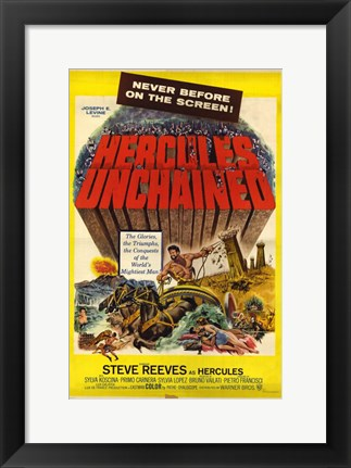 Framed Hercules Unchained Print