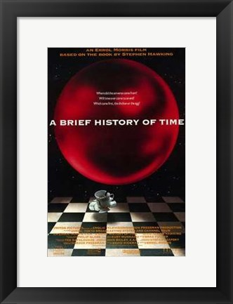 Framed Brief History of Time  a Print