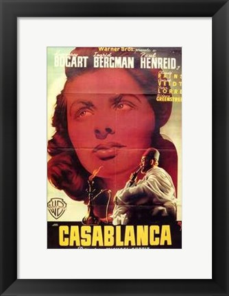Framed Casablanca Close Up Print