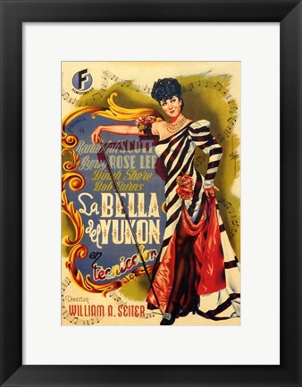 Framed Belle of the Yukon Print