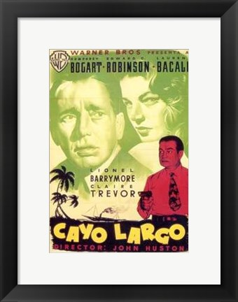 Framed Key Largo Cayo Largo Print