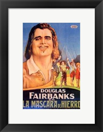 Framed Three Musketeers - Douglas Fairbanks Print