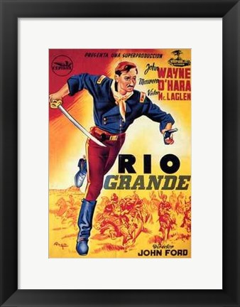 Framed Rio Grande By John Ford Print