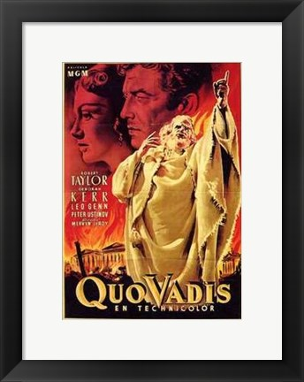 Framed Quo Vadis - pointing to the sky Print