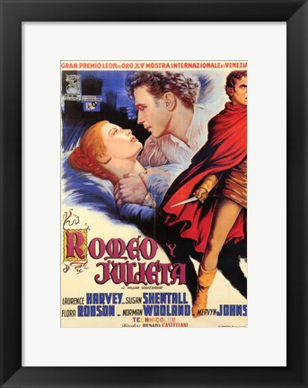 Framed Romeo and Juliet (spanish) Print