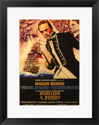Framed Mutiny on the Bounty Spanish Print
