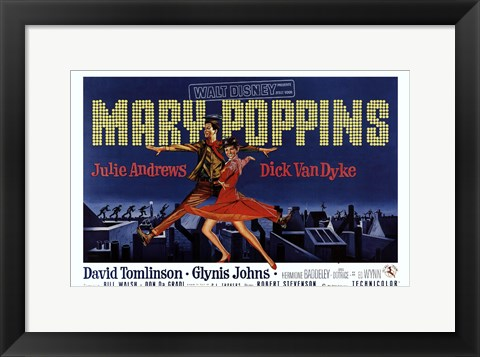 Framed Mary Poppins Broadway Print