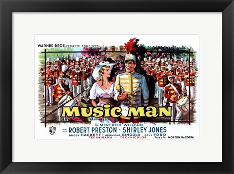 Framed Music Man - wide Print