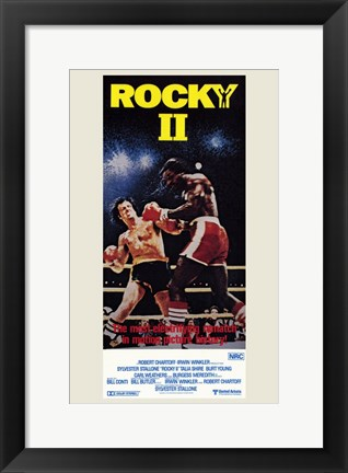 Framed Rocky 2 in the Arena Print