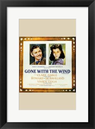 Gone With The Wind Framed Clark Gable Amp Vivien Leigh