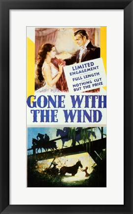 Framed Scenes from Gone with the Wind Print