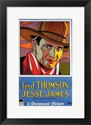 Framed Jesse James Fred Thomson Print