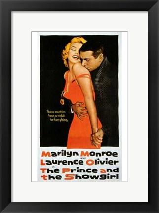 Framed Prince and the Showgirl Marilyn Monroe Print