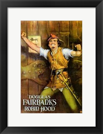 Framed Robin Hood - Douglas Fairbanks Print