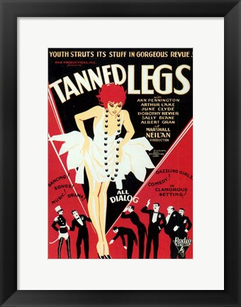 Framed Tanned Legs Print