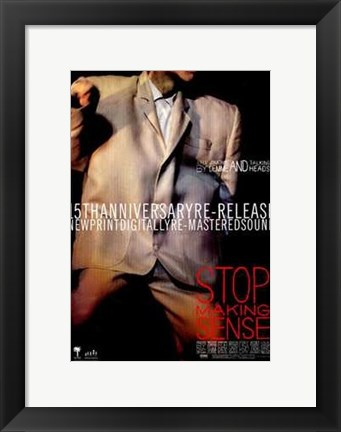 Framed Stop Making Sense Print